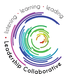 Leadership Collaborative Logo multiple concentric colored arches